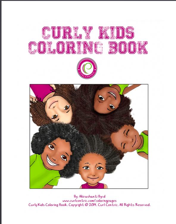 CurlyKidsColoringBookFullCover
