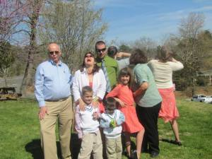 "That's my dad on the left, modelling the ""sorority pose"" I was joking about. Humor runs strong in our family!"